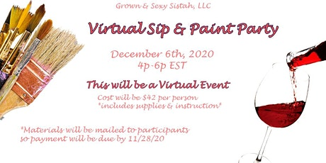 Virtual Sip & Paint Party tickets