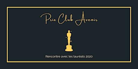 Rencontre avec les lauréats des Prix Club Avenir 2020 billets
