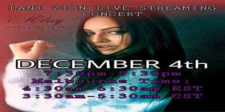 LANI ZION LIVE STREAMING CONCERT tickets
