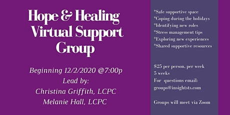 Holiday Grief and Loss Virtual Support Group tickets