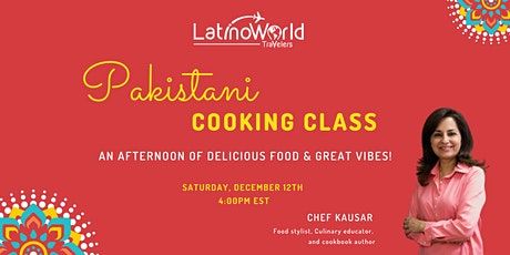 Pakistani Cooking Class tickets