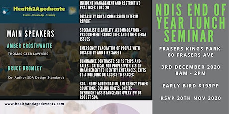 NDIS END of Year Lunch Seminar 3rd Dec 2020 Perth tickets