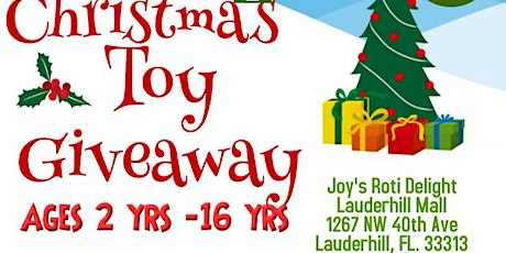 Winter Wonderland Toy Give Away in Lauderhill boletos