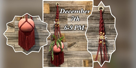 Macrame Monday : Burgundy Plant Hanger tickets