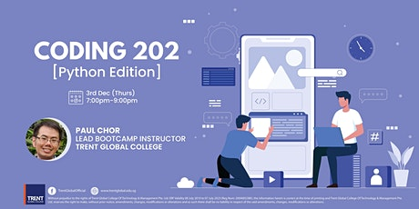 Coding 202, Python Workshop *IN-PERSON*