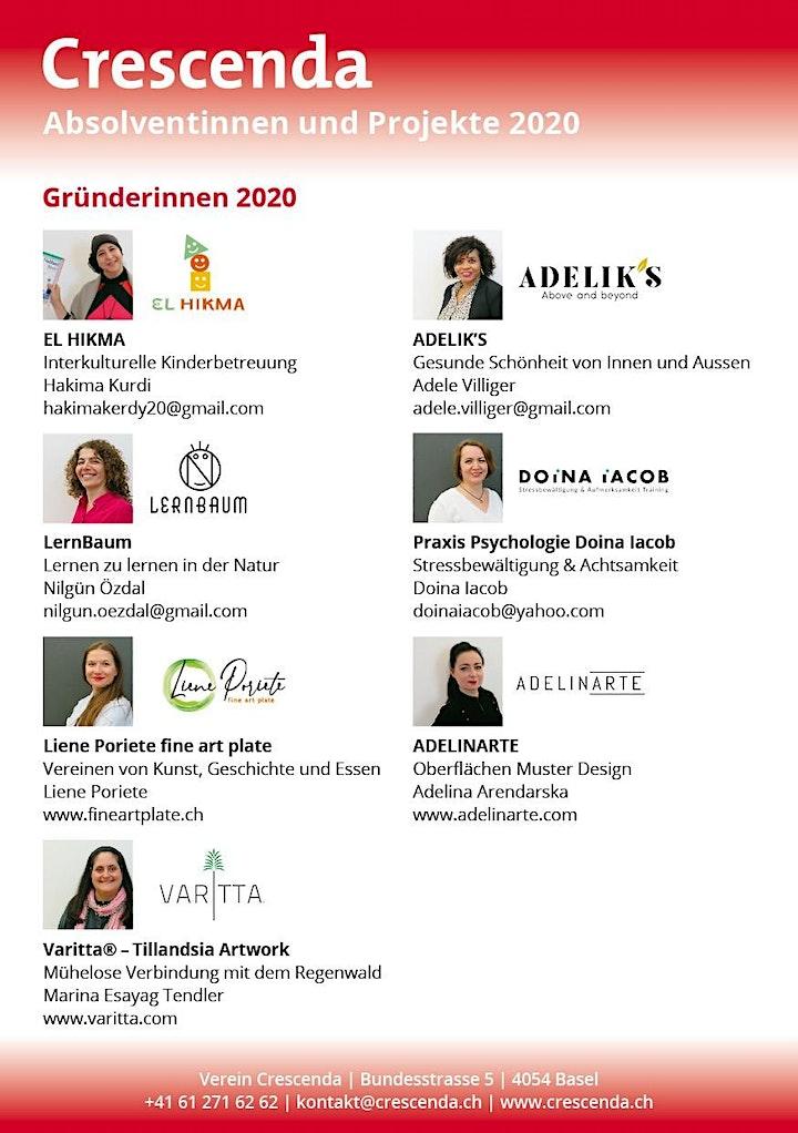 Crescenda Präsentationsabend 2020 (online): Bild