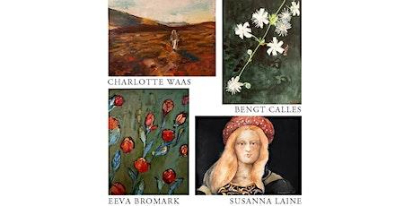 Charlotte Waas, Bengt Calles, Eeva Bromark o Susanna Laine - Utställning biljetter