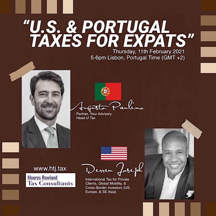(WEBINAR) U.S/Portugal Taxes for Expats - Lisbon Portugal Time. image