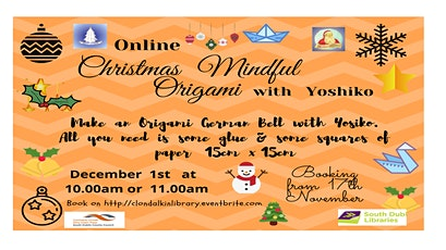 Online Christmas Mindful Origami with Yoshiko tickets