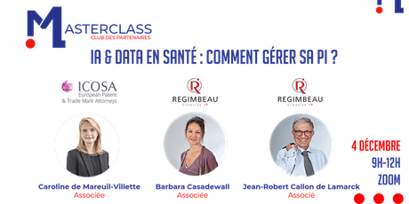 MASTERCLASS - ICOSA & REGIMBEAU billets