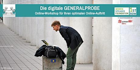 Präsentationstraining: Die digitale GENERALPROBE Tickets