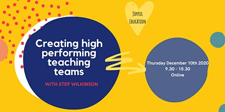 Creating High Performing Teaching Teams tickets