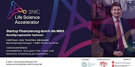 MBG Startup Finanzierungsoptionen Tickets