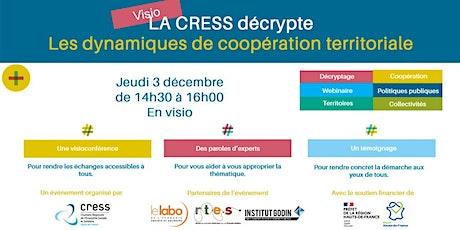 """La CRESS décrypte """"Les dynamiques de coopération territoriale"""" billets"""