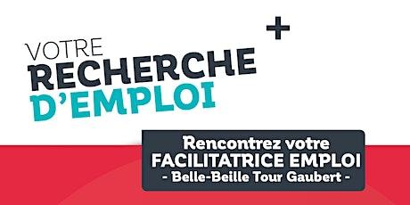 Permanences Emploi dans le quartier prioritaire  Belle-Beille (P. Gaubert) billets