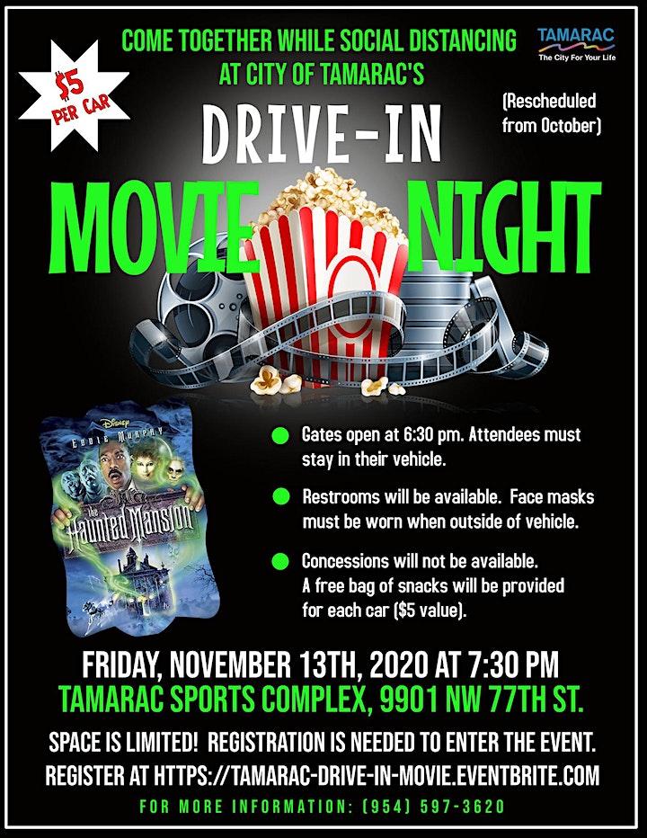 City of Tamarac Drive-In Movie Night image
