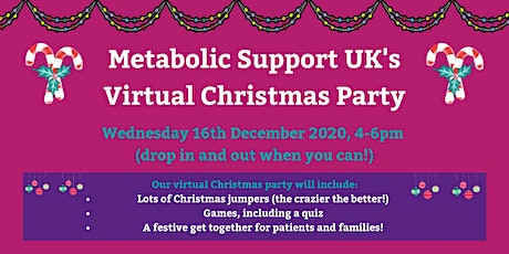 Metabolic Support UK Virtual Christmas Party! tickets