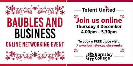 Talent United Networking: Baubles and Business tickets