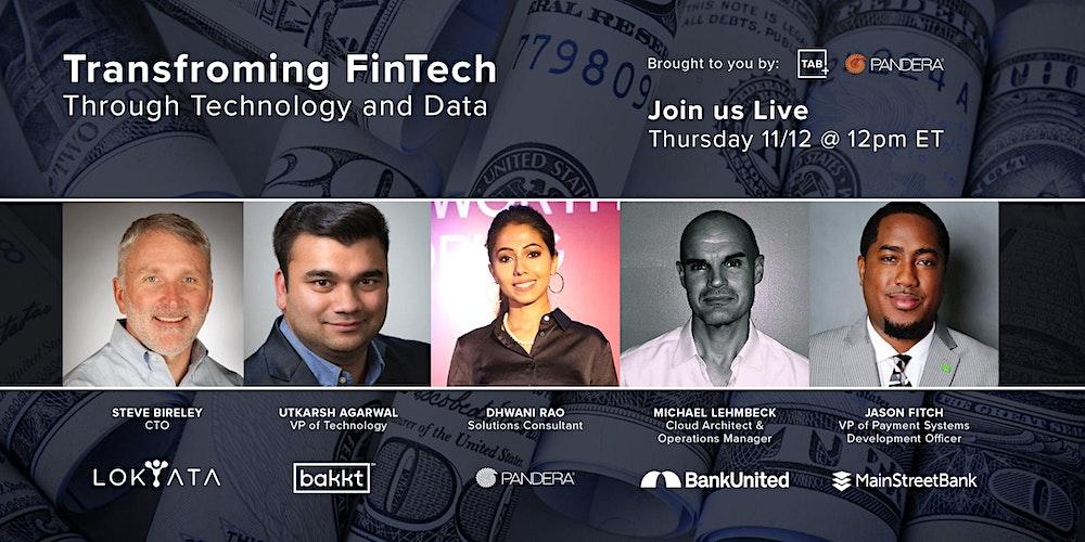 Episode #15 Transforming FinTech Through Technology and Data
