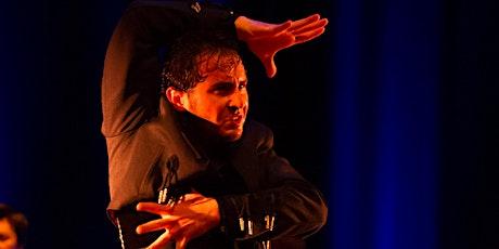 Flamenco dancer David Pérez in Flamenco Esencia entradas