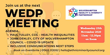 Wolverhampton Equality and Diversity Partnership (WEDP) Meeting tickets