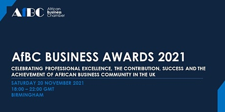 AfBC Business Awards and Gala Dinner 2021 tickets