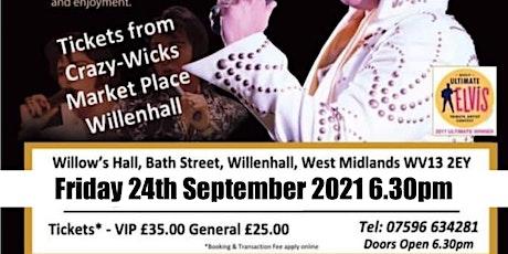 Gordon Hendricks is ELVIS in Willenhall 2021 tickets