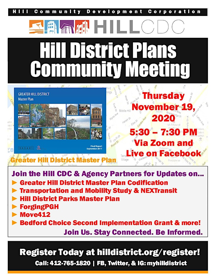 Hill District Plans Community Meeting image