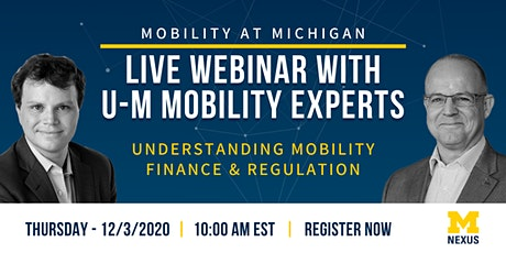 Understanding Mobility Finance & Regulation tickets