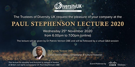 Diversity UK Paul Stephenson Lecture 2020 tickets