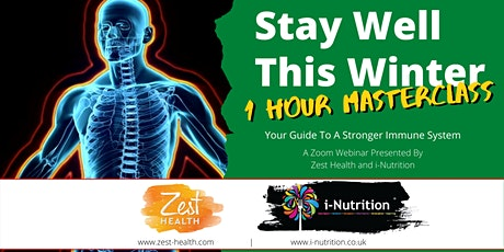 Stay Well This Winter Masterclass - Webinar from i-Nutrition & Zest Health tickets