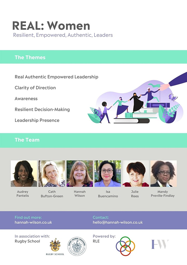 REAL (Resilient Empowered Authentic Leaders) Programme for Women image