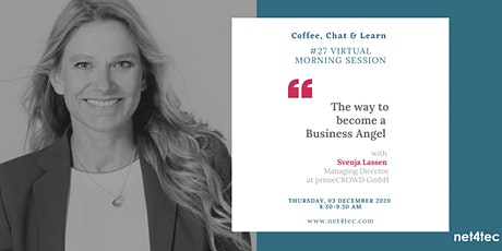 Virtual morning session: The way to become a BUSINESS ANGEL Tickets