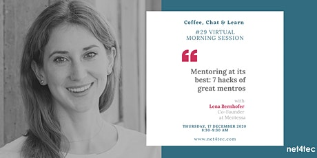 Virtual morning session: Mentoring at its best: 7 hacks of great mentors Tickets