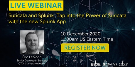 Suricata and Splunk: Tap into the Power of Suricata with the new Splunk App
