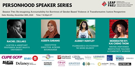 Re-imagining Accountability for Survivors of Gender-Based Violence tickets