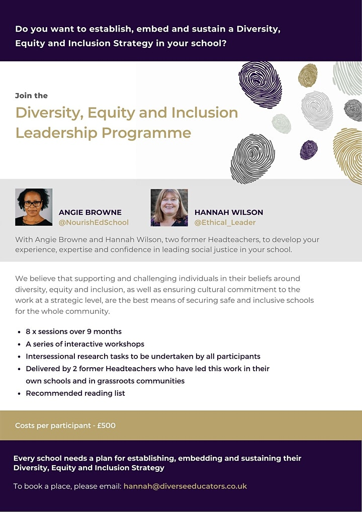 Diversity, Equity and Inclusion Leadership Programme - cohort 5 image