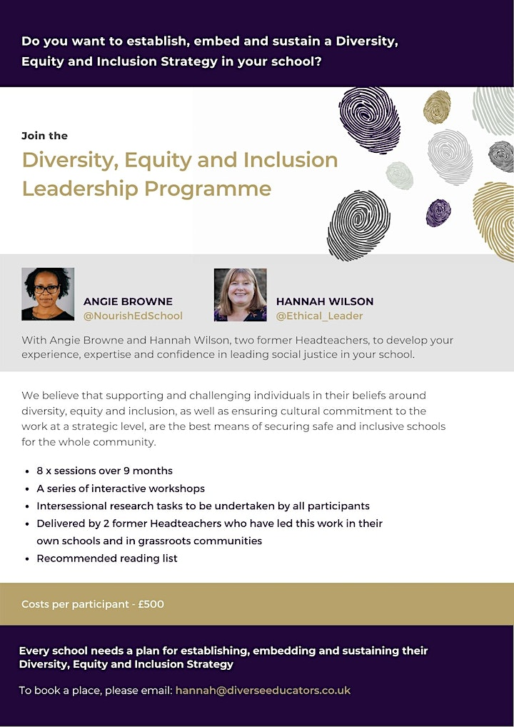 Diversity, Equity and Inclusion Leadership Programme - Cohort 1 image