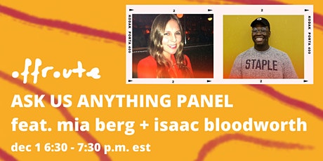Offroute Art Ask Us Anything Panel tickets