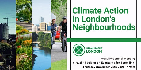 Urban League November Meeting - Climate Action in London tickets