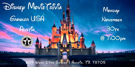 Disney Movie Trivia at Growler USA Austin tickets