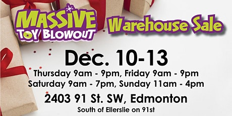 Massive Toy Blowout Christmas Warehouse Sale tickets