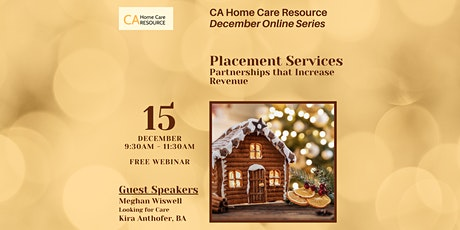 FREE WEBINAR  - Placement Services: Partnerships t tickets