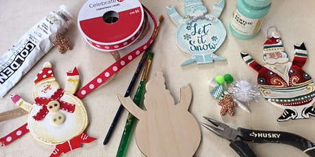 Santa and Snowman  Christmas Ornaments Workshop tickets