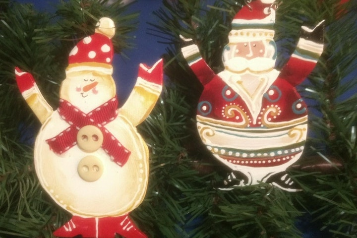 Santa and Snowman  Christmas Ornaments Workshop image
