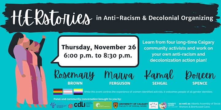 Herstories in Anti-Racism & Decolonial Organizing image
