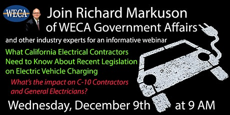 Webinar: Electric Vehicle Charging Legislation and Electrical Contractors tickets