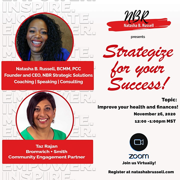 Strategize for your Success! Improve your health and your finances image