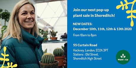 Join our next pop-up plant sale in Shoreditch! tickets
