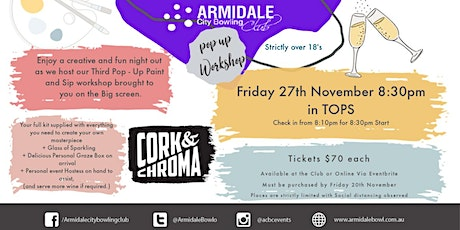 Paint and Sip - Cork and Chroma tickets